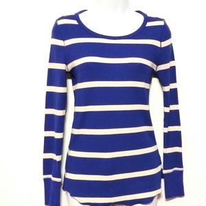 Gap Thermal crew blue stripe small